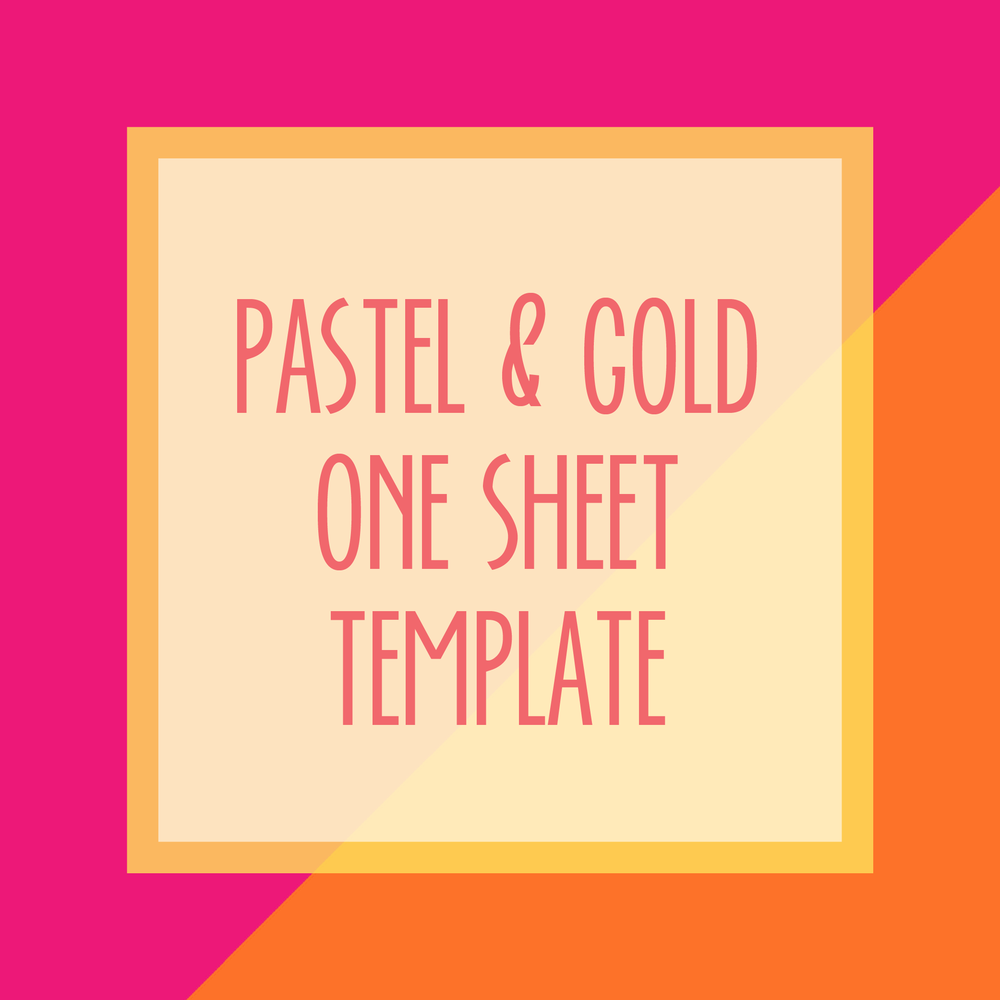 Bold & Pop : Bold Boss Resource Library Pastel & Gold One Sheet