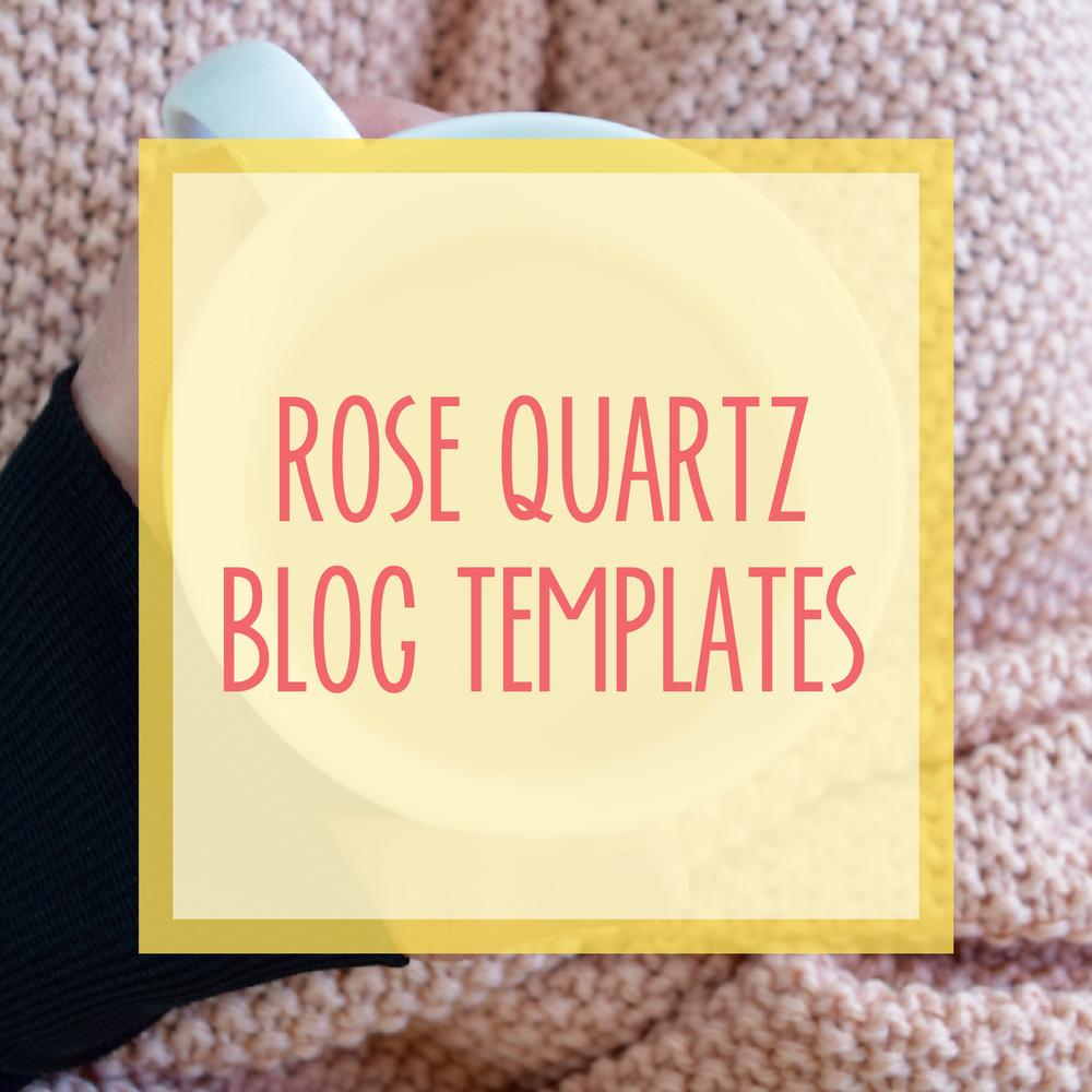 Bold & Pop : Resource Library Rose Quartz Blog Templates