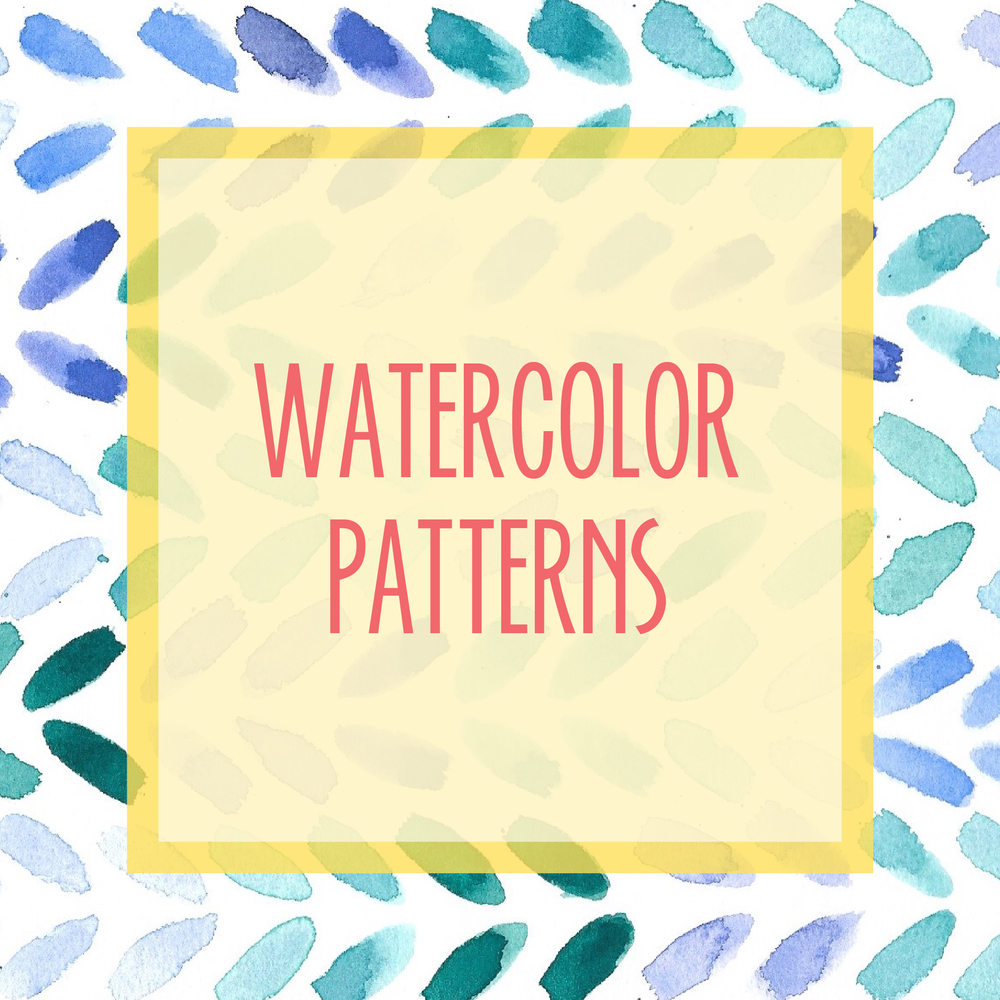 Bold & Pop : Resource Library watercolor Patterns