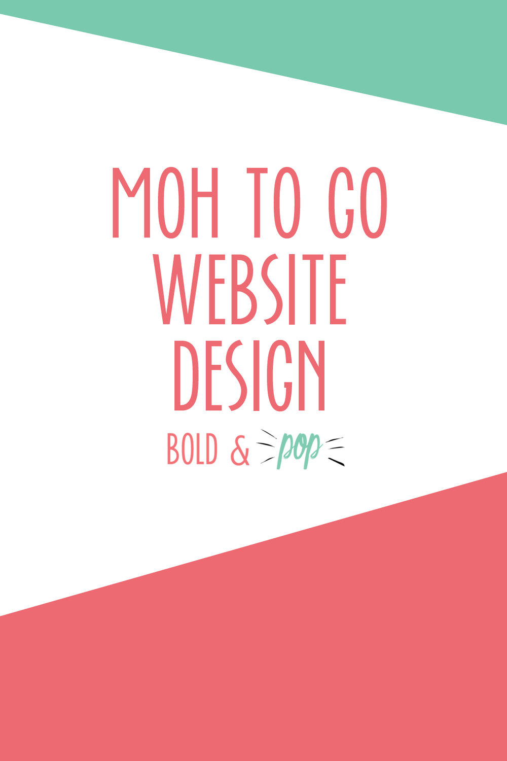 Bold & Pop : MOH to Go Squarespace Website Design Project