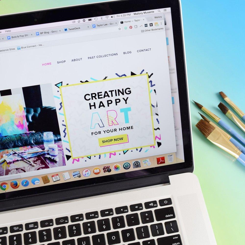 Taylor Lee Paints <br> Branding & Ecommerce <br> Website Design