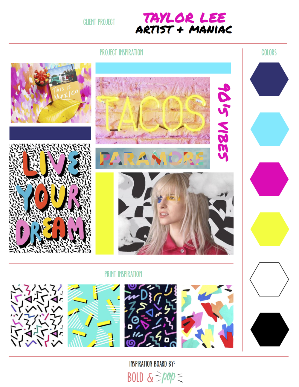 Bold & Pop : Taylor Lee Paints Branding & Website Design