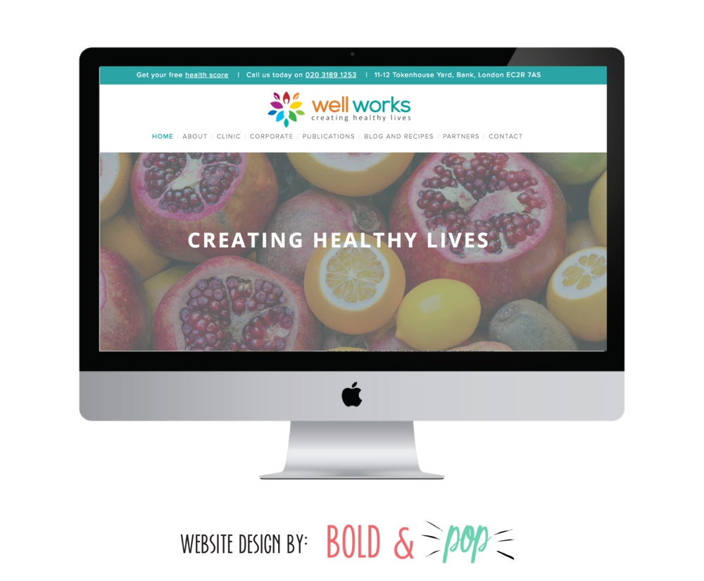 Bold & Pop : Well Works Website Design