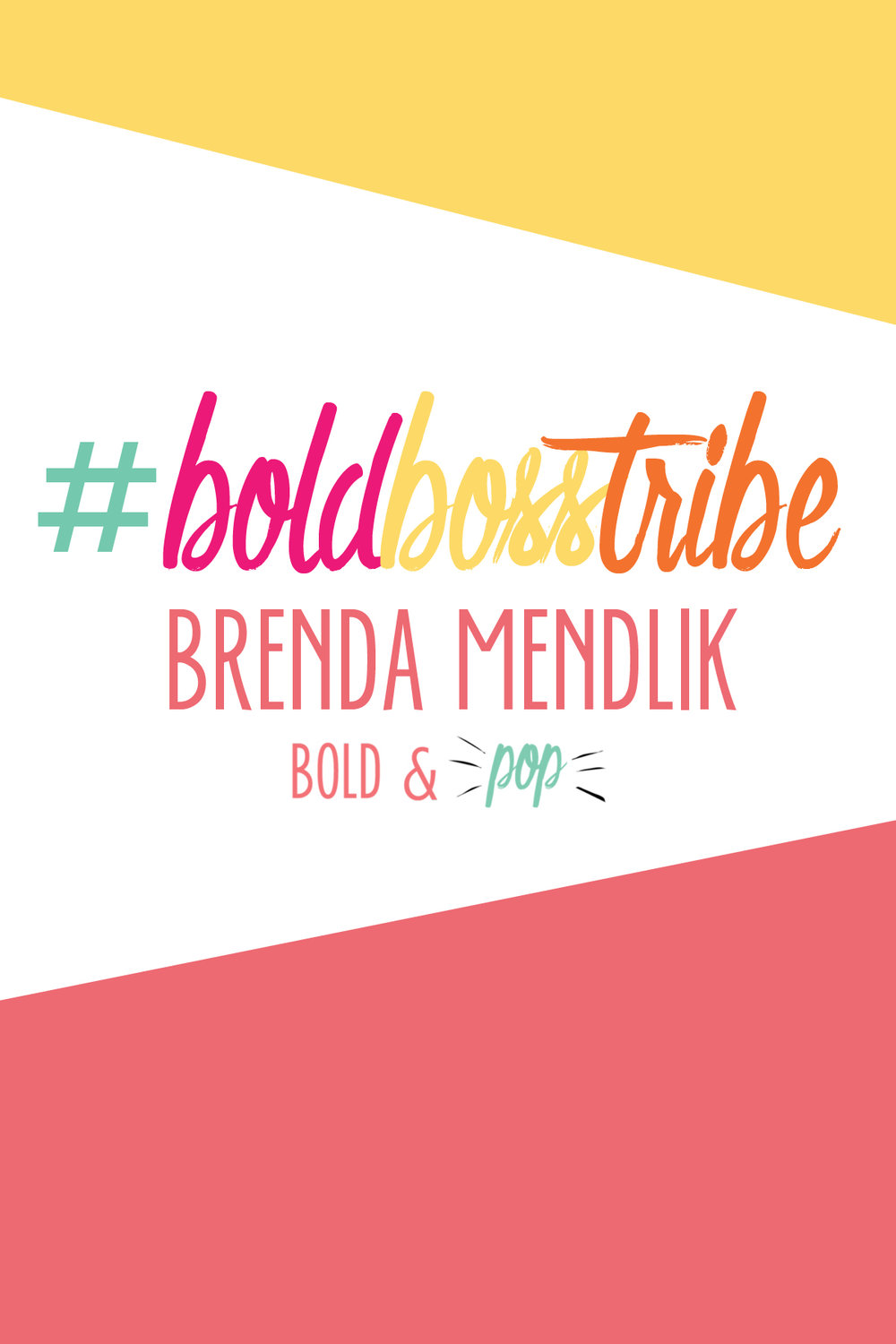 Bold & Pop :: #BoldBossTribe Feature with Brenda Mendlik of Inspired Party Studio