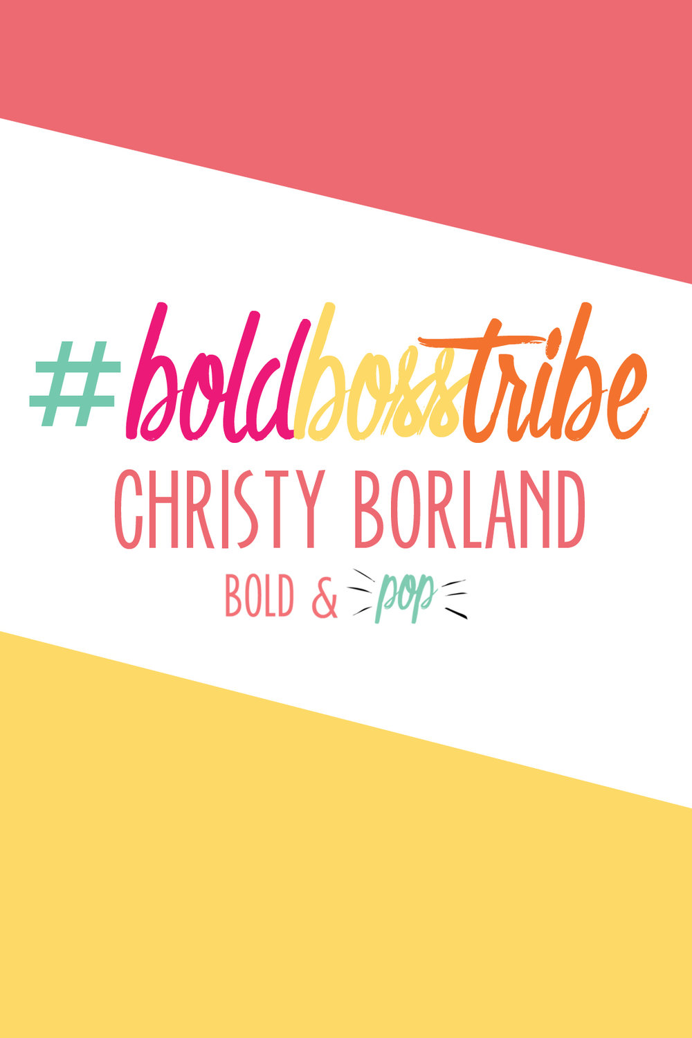 Bold & Pop :: #BoldBossTribe Feature with Christy Borland of Fabricated at your Fingertips