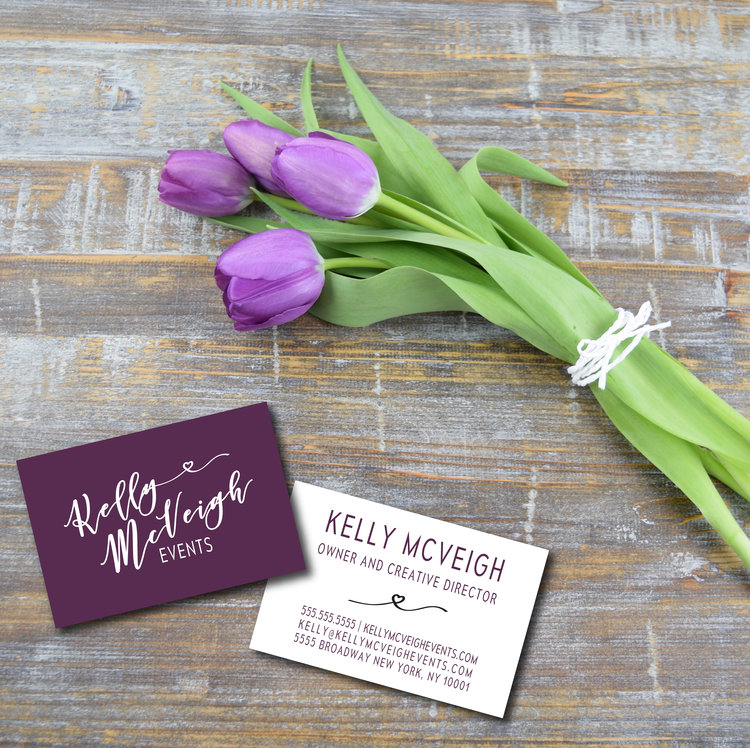 Kelly McVeigh Events <br> Branding & Collateral <br> Design