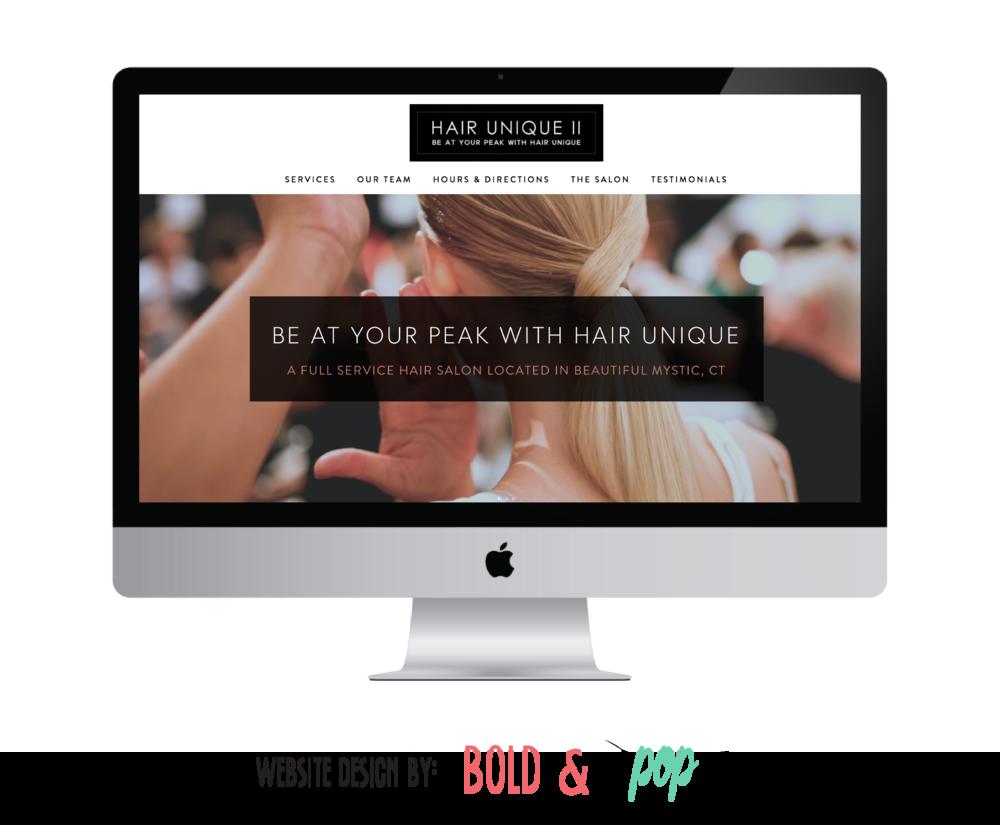 Bold & Pop : Hair Unique Beauty Salon Squarespace Website Design