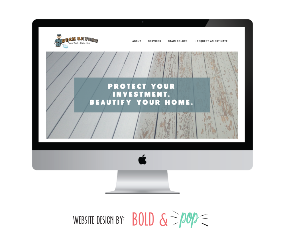 Bold & Pop : Deck Savers Squarespace Website Design