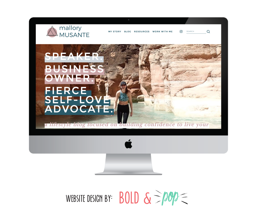 Bold & Pop : Mallory Musante Branding & Squarespace Website Design