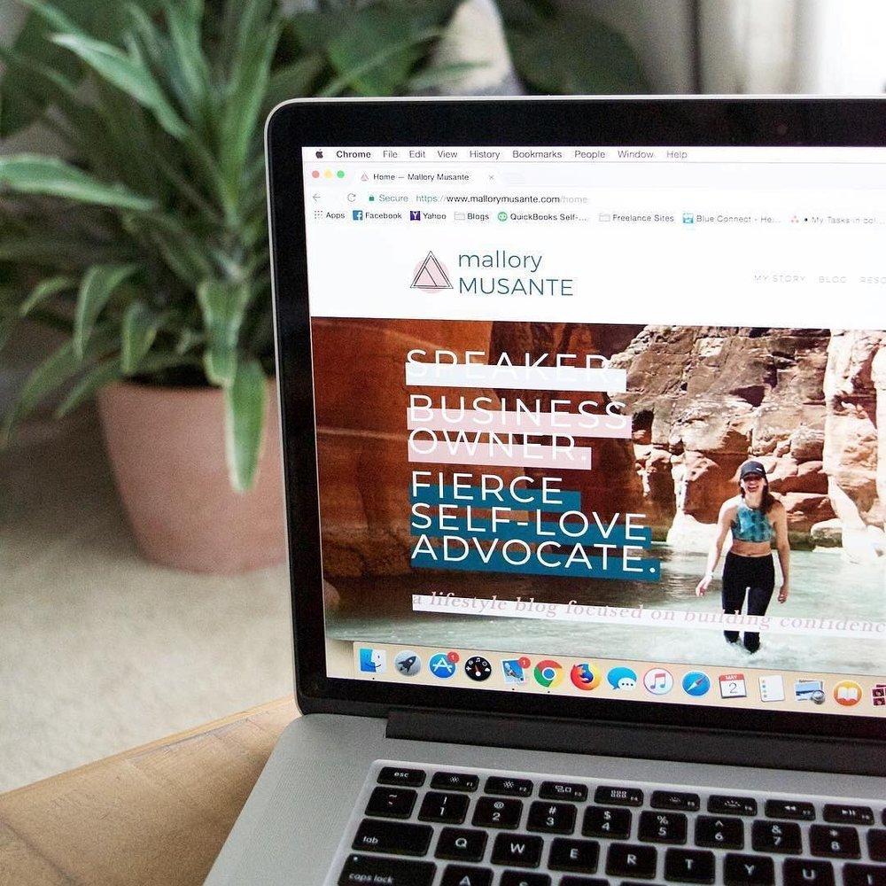 Mallory Musante <br> Branding & Website<br> Design