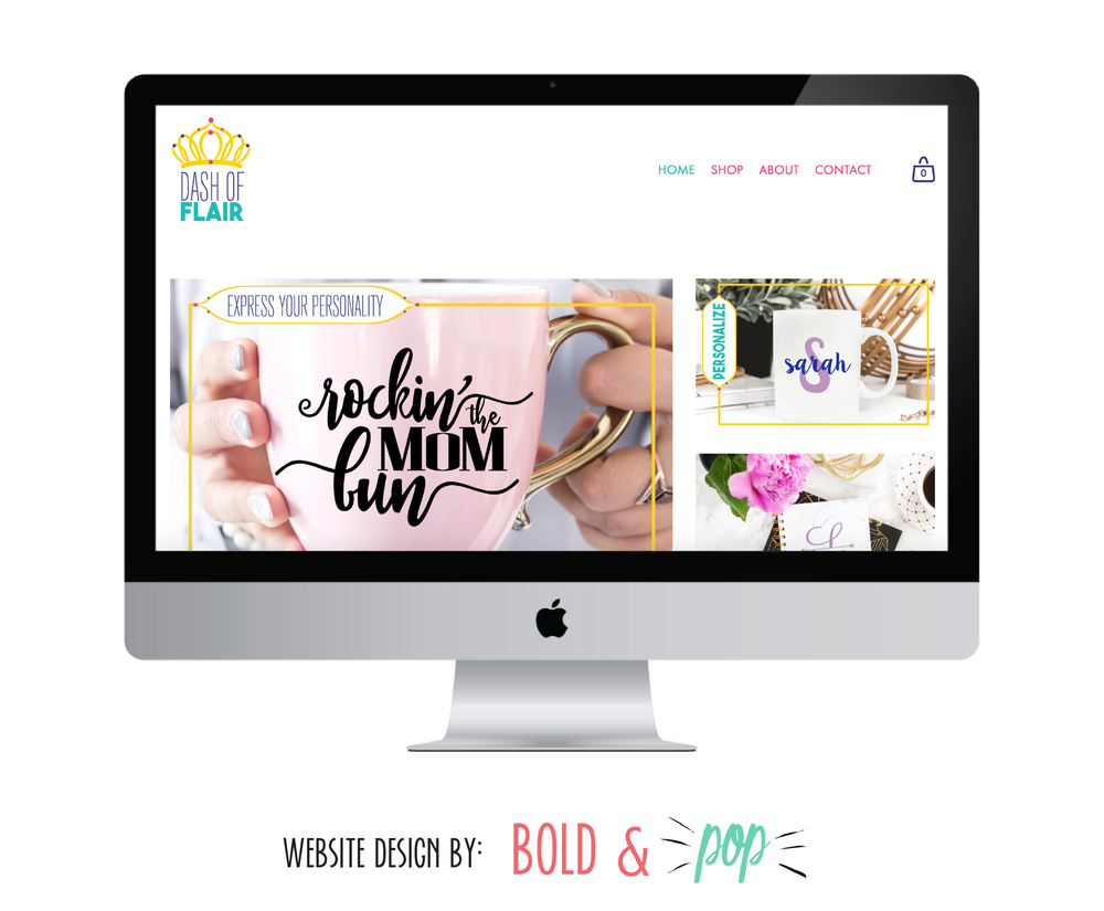 Bold & Pop : Dash of Flair Branding & Website Design