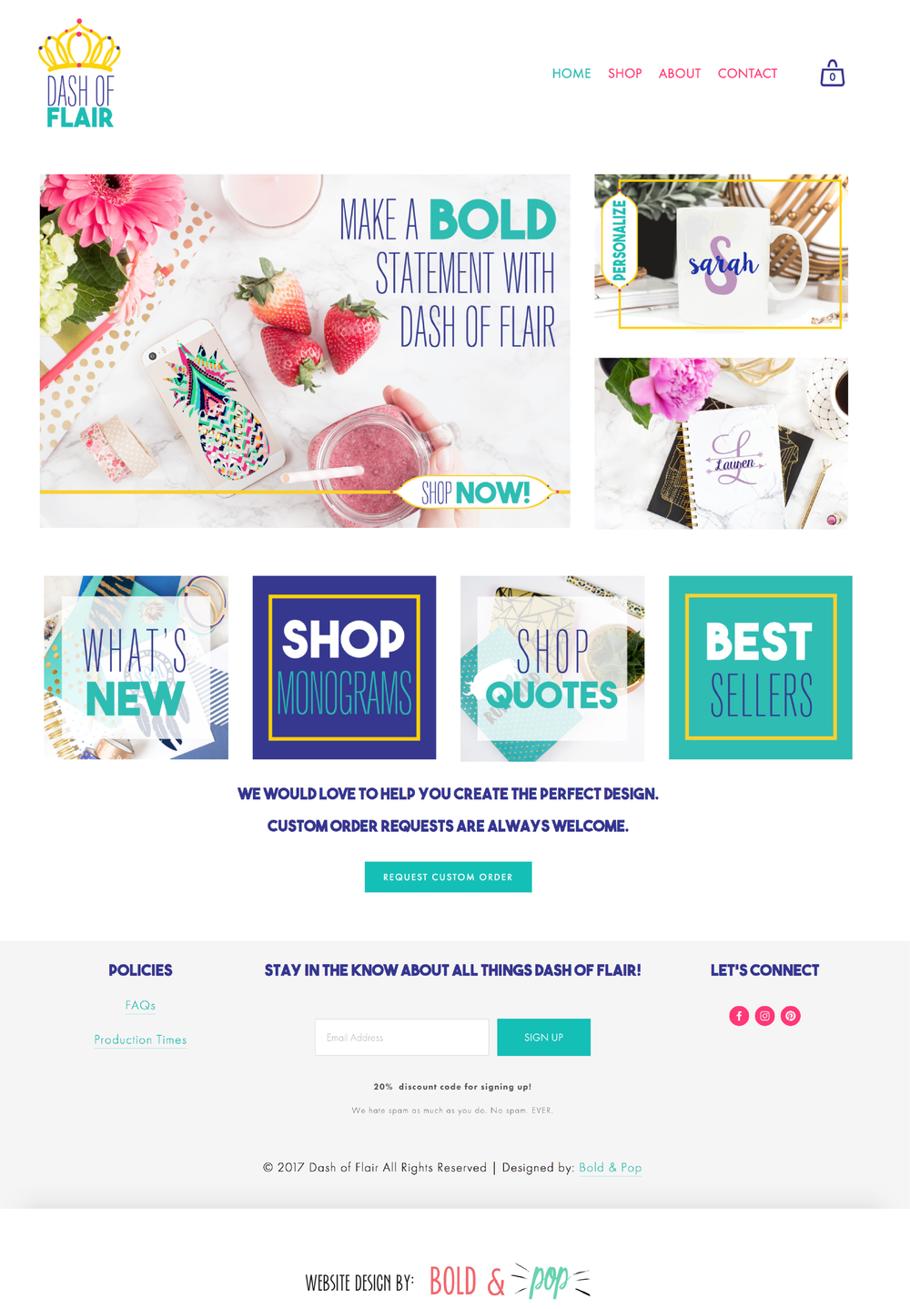 Custom Decal Boutique Branding & Ecommerce Website Design