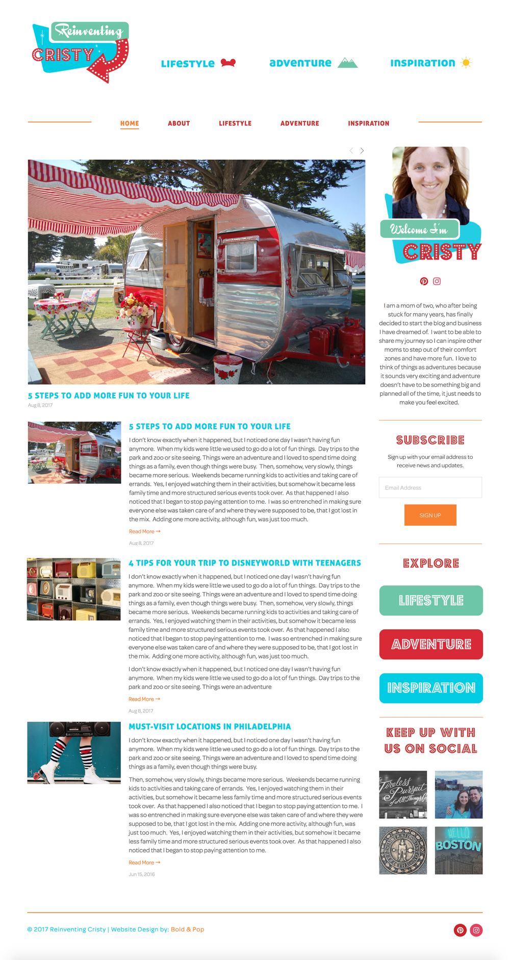 Lifestyle Blogger Branding & Website Design