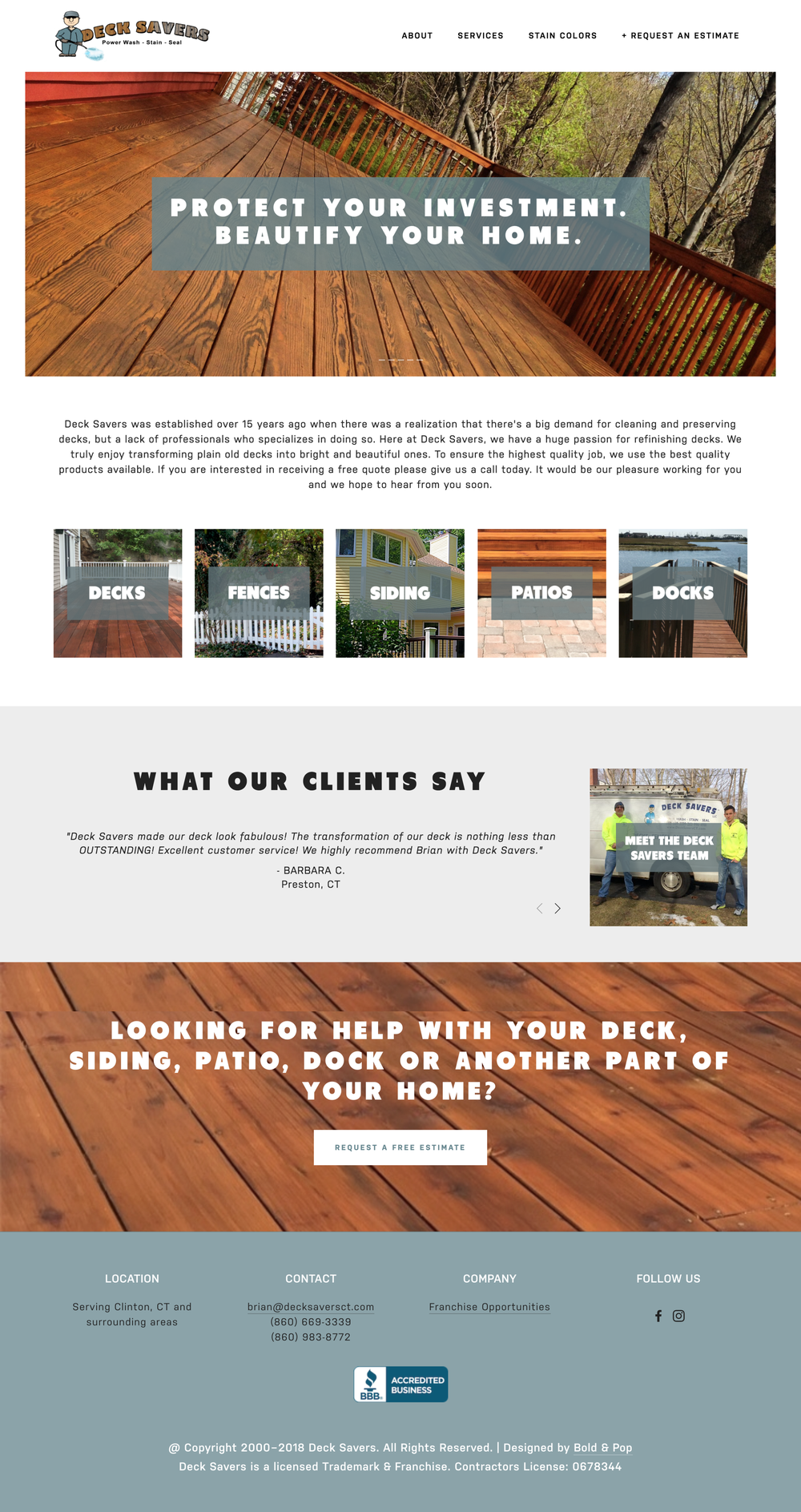 Professional Home Services Website Design