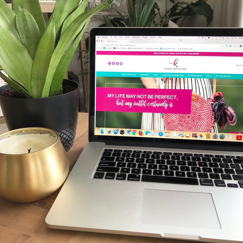 Koket Boutique <br> Branding & Website <br> Design