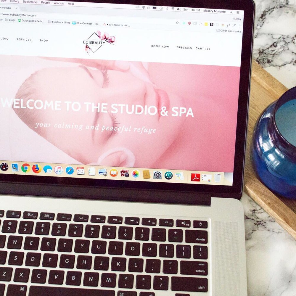 EC Beauty <br> Website<br> Design