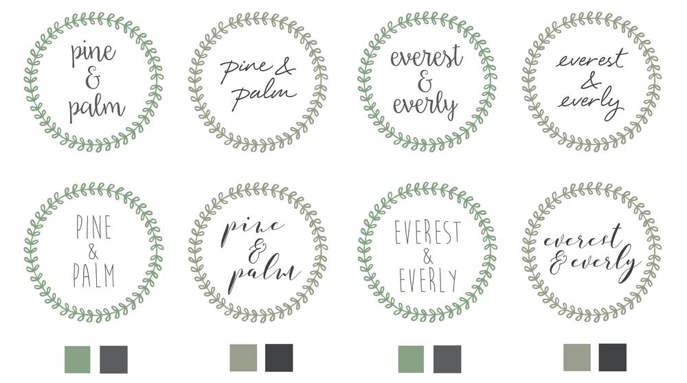 Bold & Pop : Everest & Everly Branding Design
