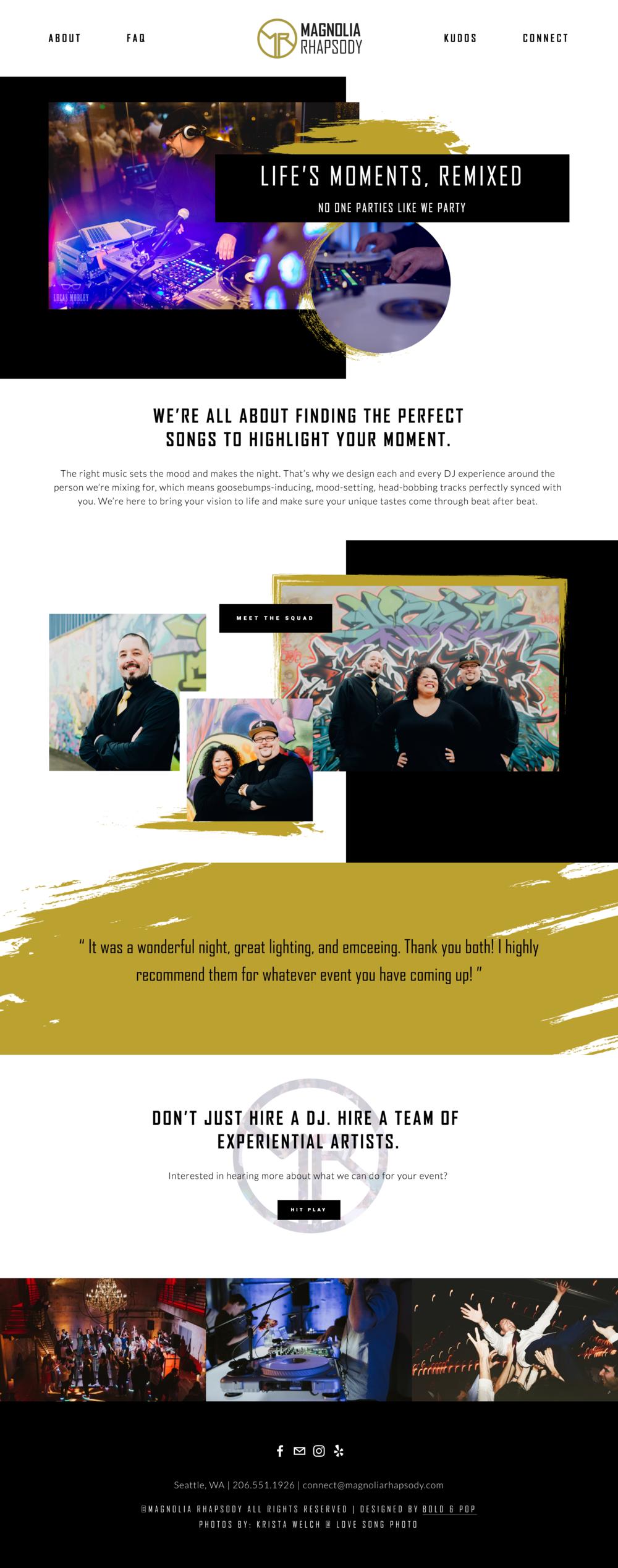 Event & Wedding DJ Services Website Design