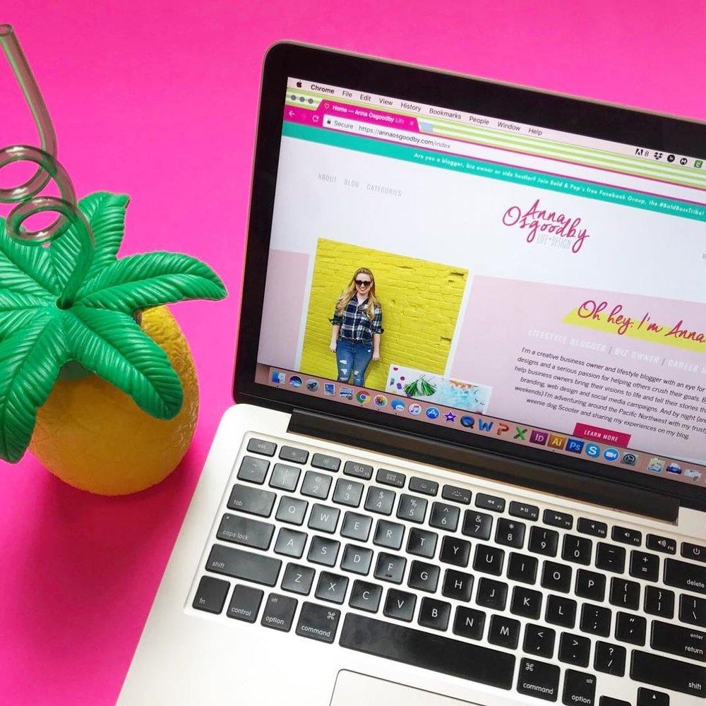 Lifestyle Blog Website Design