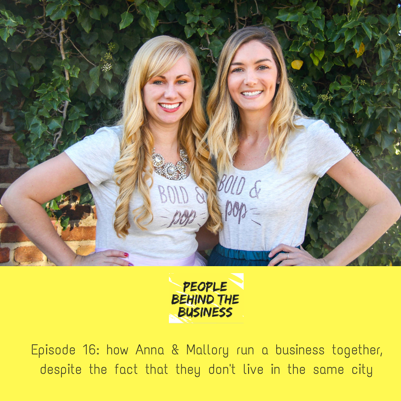 Bold & Pop | Social Media, Branding and Squarespace Collective Featured on People Behind the Business | Anna Osgoodby and Mallory Musante