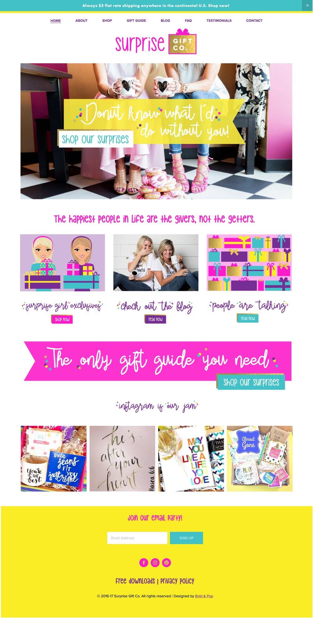 Gifting Service Branding & Ecommerce Website Design