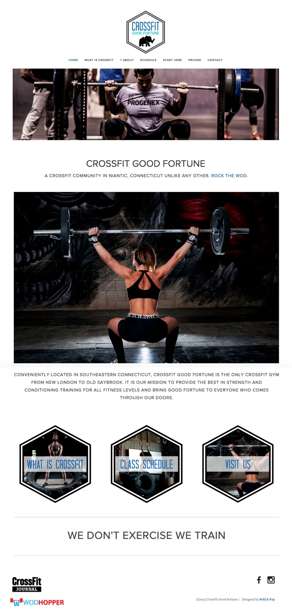 Crossfit Gym Branding & Website  Design