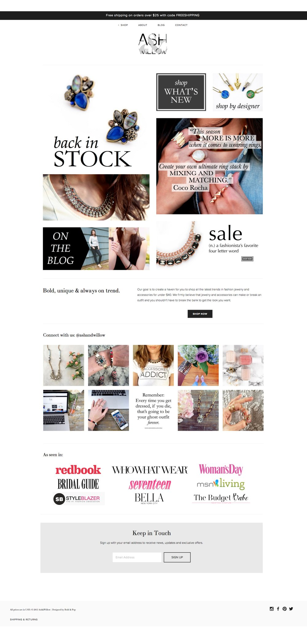 Jewelry and Accessories Boutique Branding & Website Design