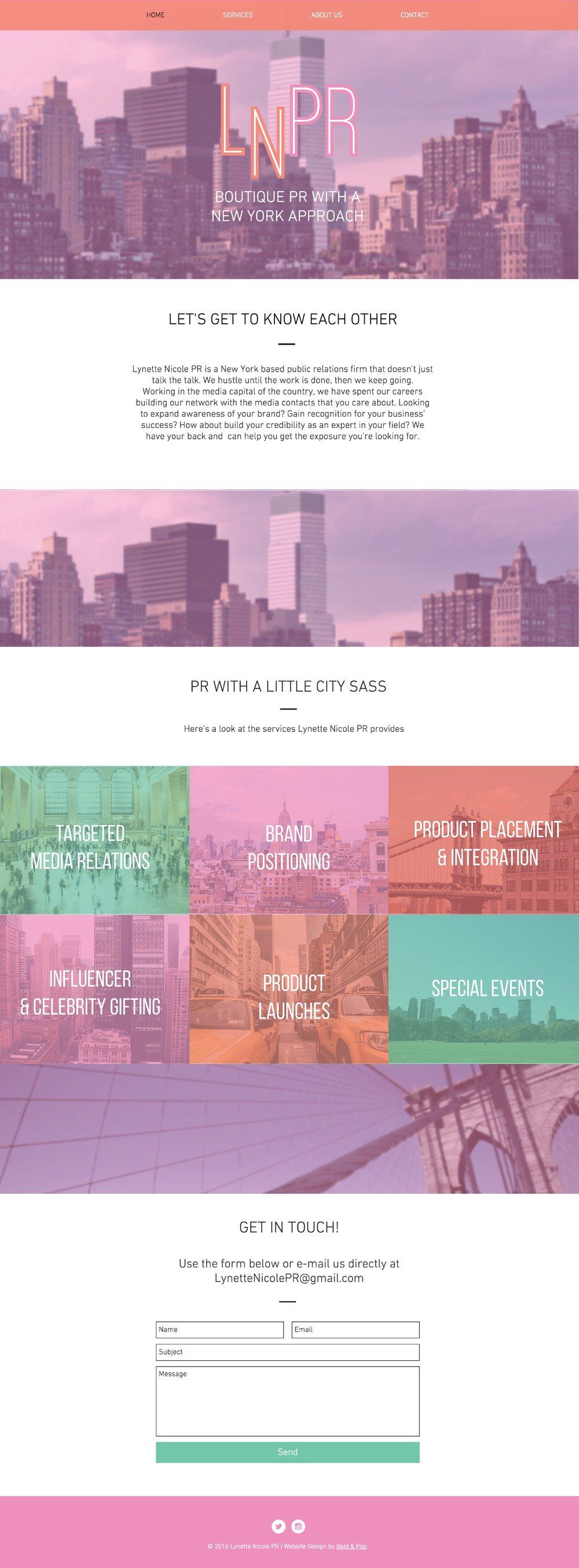 Public Relations Agency Branding & Website Design