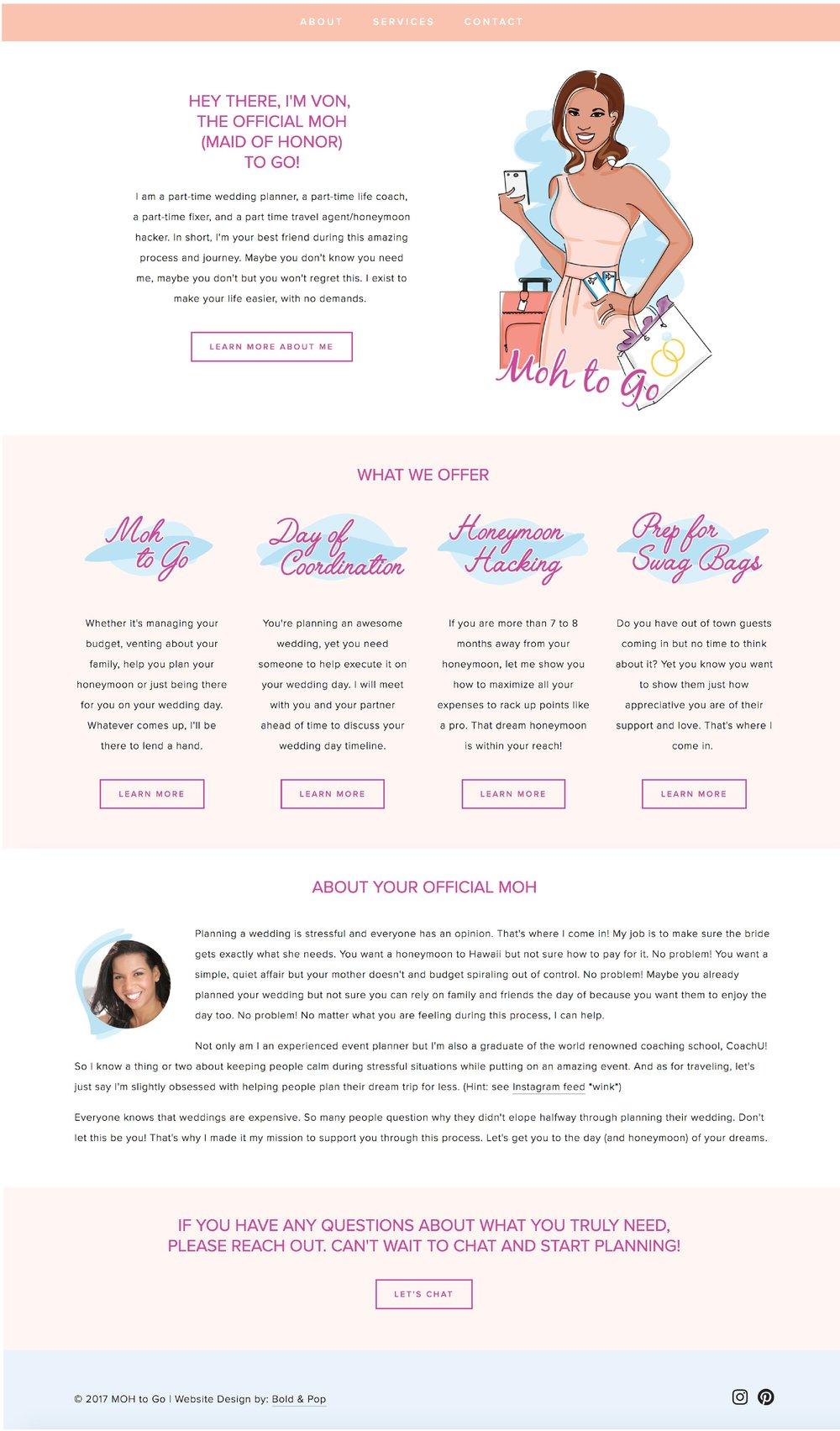 Wedding Planning Services Website Design
