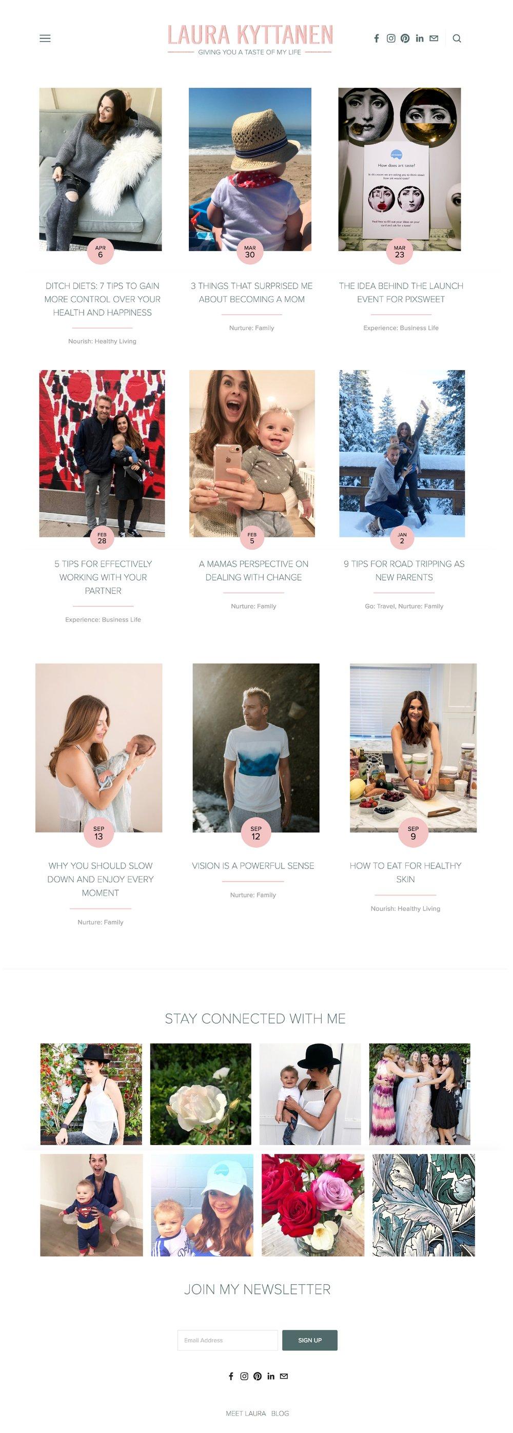 Mom Entrepreneur Blogger Branding & Website Design