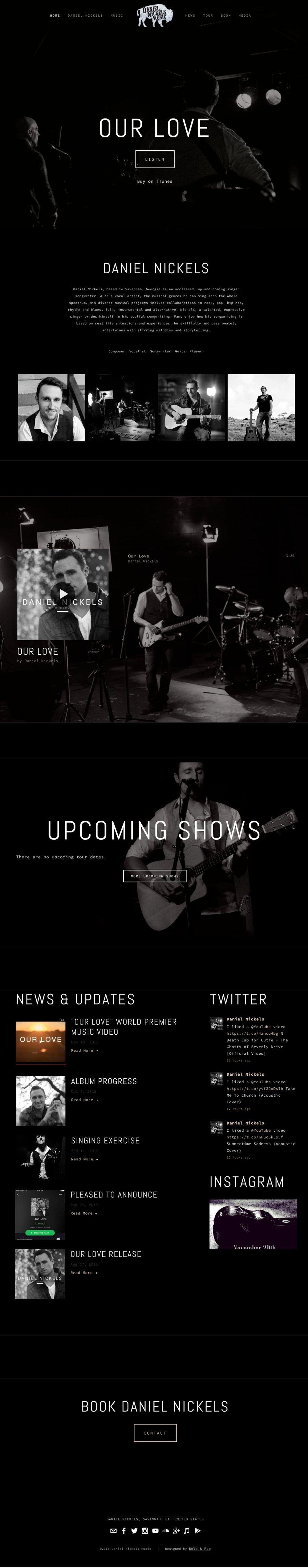 Musician Branding & Website Design