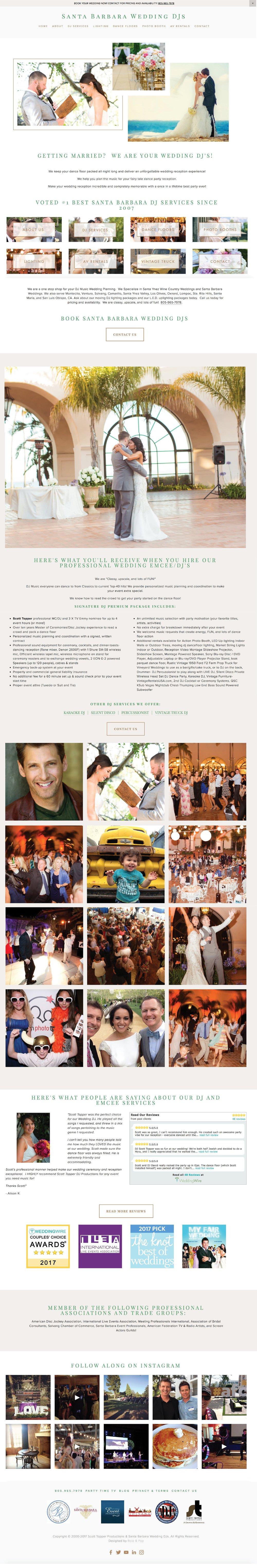 Wedding DJs Website Design
