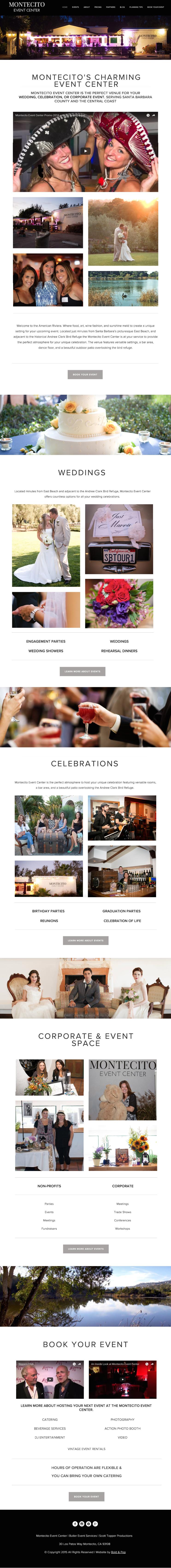 Event Venue Website Design