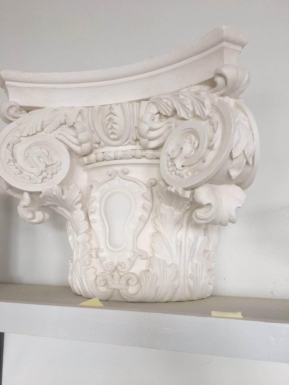 One of the many plaster capitals we've designed