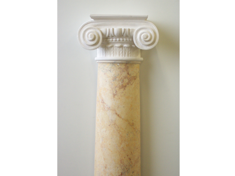 Scagliola can also look like natural marble, as seen here