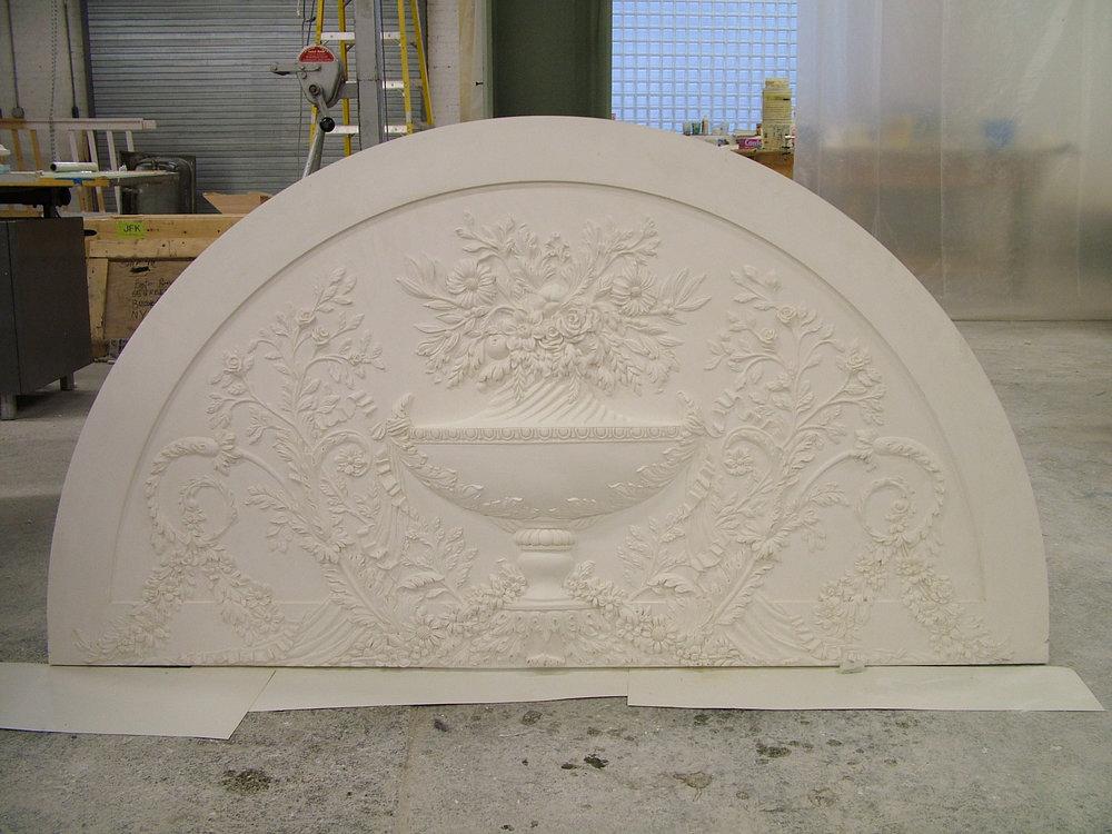 Overdoor bas relief