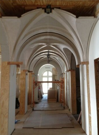 Here Is An Example Of A Barrel Vault Ceiling Where The Lightweight Panels Were Installed Without Framing And Finished In Less Than Two Weeks