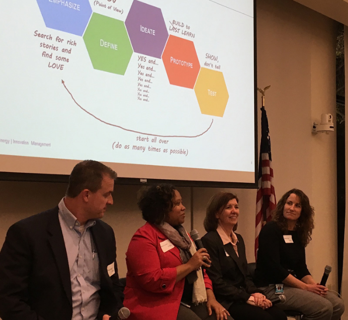 A panel discussion hosted by chapter president Doug Powell.  Duke Energy panelists included Vakesia Graves, Delta Sonderman, and Michelle Davis who shared stories of successes and setbacks