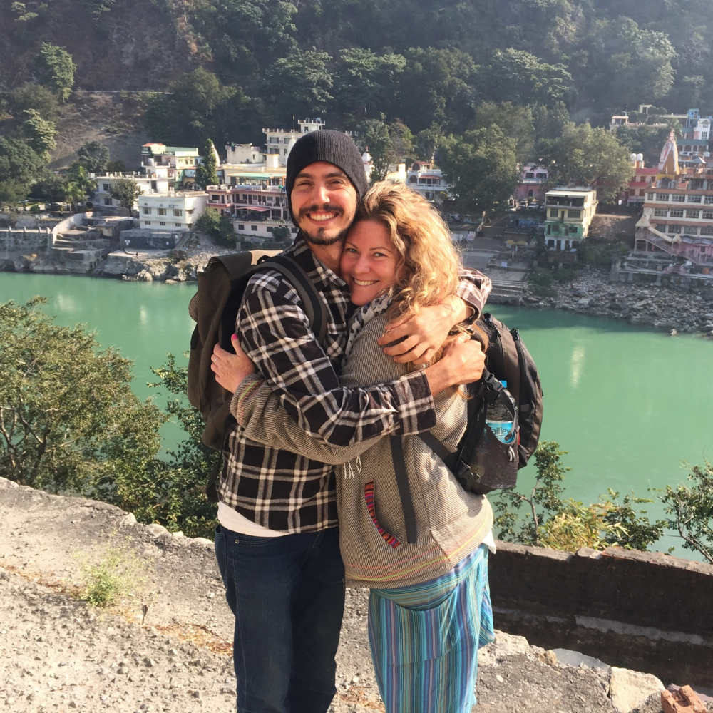 Shelly and Dan are mates from Australia. They bumped into each other in Rishikesh.