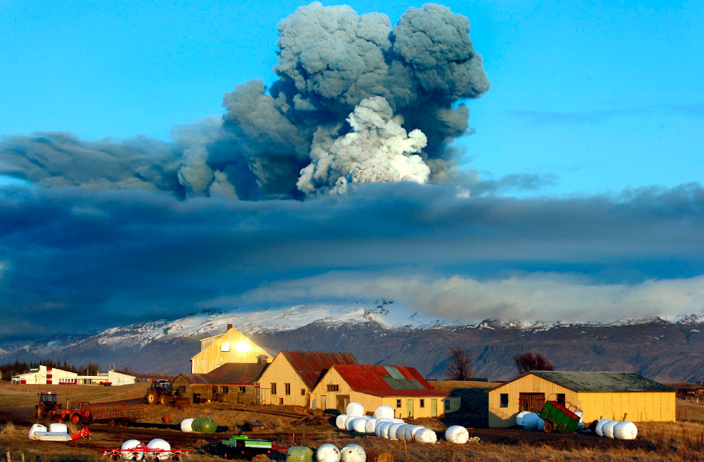 The 2010 eruption of Eyjafjallajökull brought European air traffic to a standstill