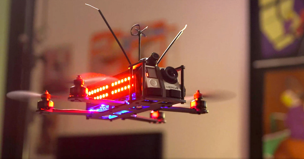 DRL pilots race with specially designed drones