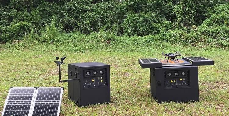 Dronebox будет поставляться как с солнечными батареями, так и с дополнительными топливными элементами. & Nbsp;