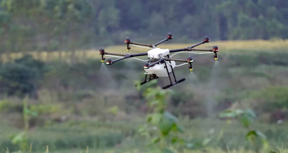DJI's Agras MG-1, the crop-spraying drone. Just one example of commercial drones revolutionizing industry.