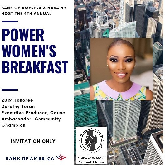 2019 Women's Power Breakfast, hosted by bank of america