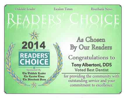 Oakdale Leader Reader's Choice Award 2014.jpg