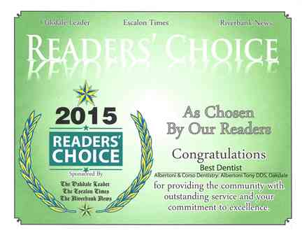 Oakdale Leader Reader's Choice Award 2015.jpg