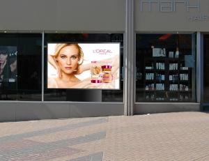 ledbleu ecran pour vitrine magasin et pharmacie led haute luminosit. Black Bedroom Furniture Sets. Home Design Ideas