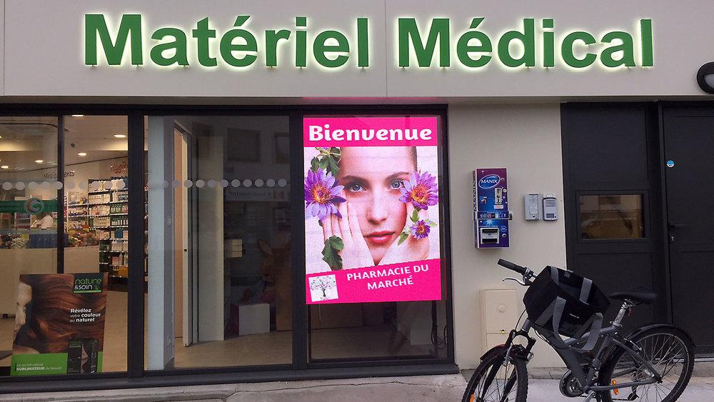 Super LEDBLEU, Ecran pour vitrine magasin et pharmacie à led haute  HI87