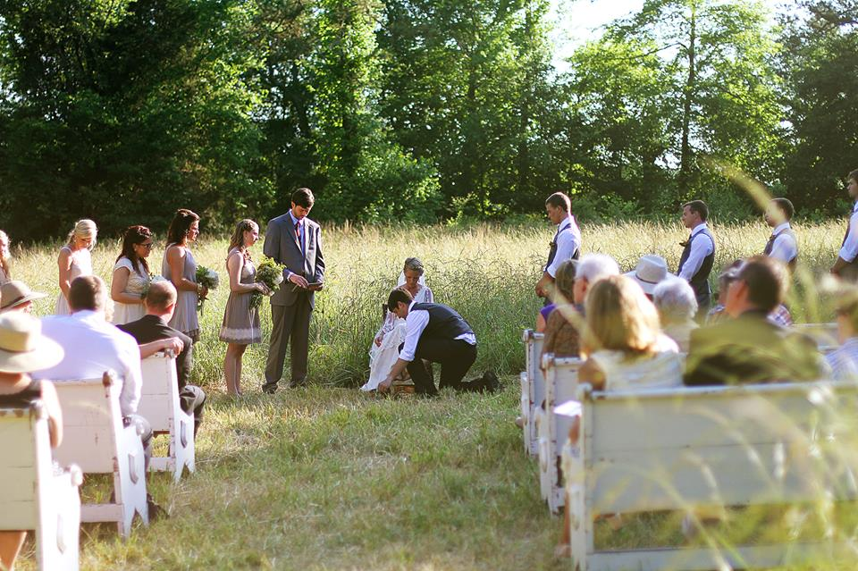 Vintage Event Rentals for a Backyard Wedding in Greenville, SC