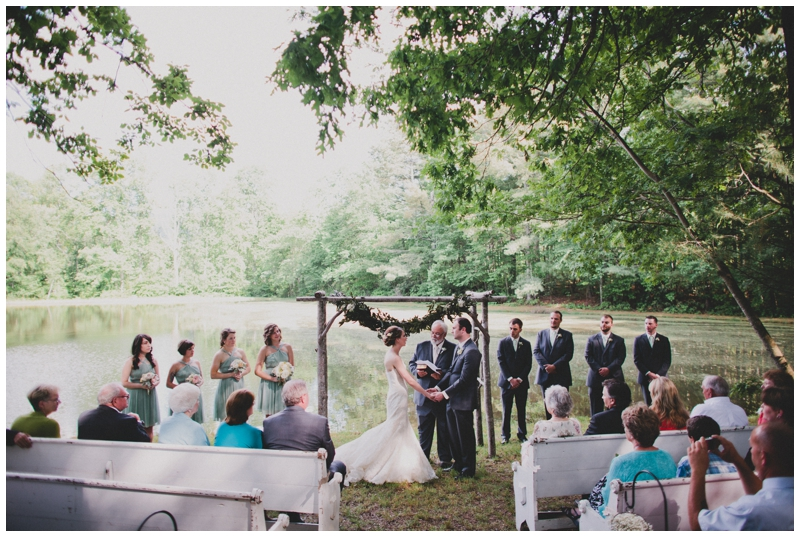 Vintage Event Rentals for a Backyard Wedding in Asheville, NC